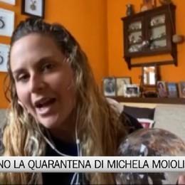 Alzano Lombardo, la quarantena di Michela Moioli