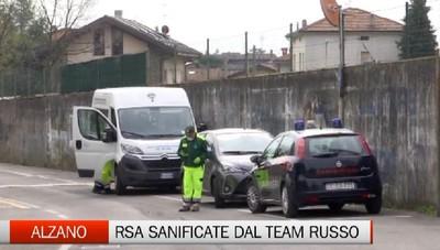 Esercito russo ad Alzano: iniziata la bonifica della Rsa