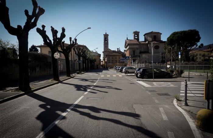 Le vie deserte ad Alzano