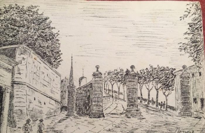 """""""Forza Bergamo"""" con una cartolina del 1934"""