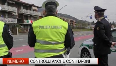 Nembro, controlli con i droni della Polizia Locale