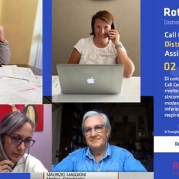 Il Rotary, cento linee telefoniche per rispondere ai malati di Covid