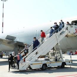 Nuova task force di infermieri in arrivo all'aeroporto di Orio al Serio