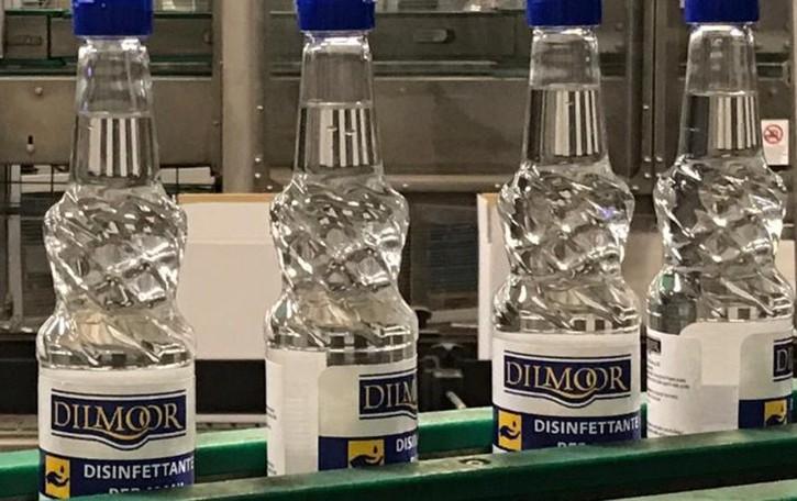 Pedrengo, al posto dei liquori 12 mila bottiglie di gel disinfettante