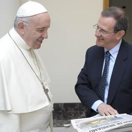Un'altra carezza di Francesco Il Papa chiama L'Eco di Bergamo