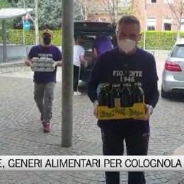 Fiorente, la squadra consegna alimenti a Colognola