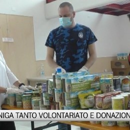 Gazzaniga, mascherine e colletta alimentare per i bisognosi