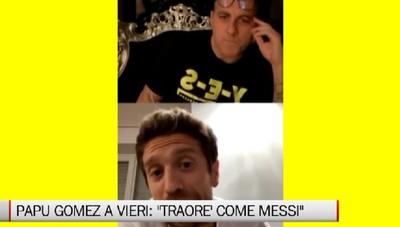 Papu Gomez a Bobo Vieri: il giovane Traorè sembra Messi