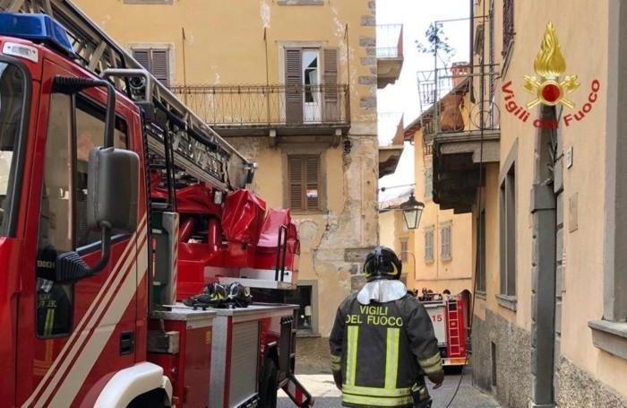 L'intervento dei Vigili del fuoco a Clusone