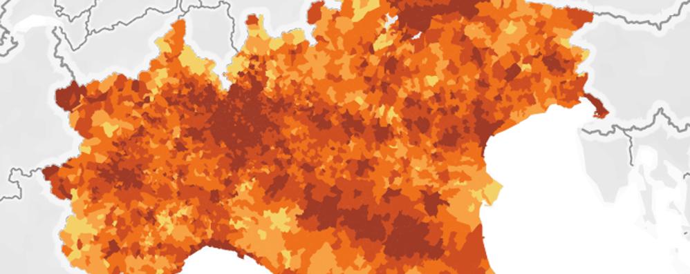 I più «ricchi» della provincia di Bergamo? Ecco la mappa con i redditi in tutti i Comuni