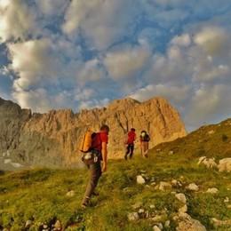 Montagna, camminare sui sentieri «Presto vademecum per evitare gli ingorghi»