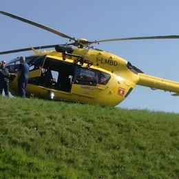 Elisoccorso in volo ad Albino Ferito 63enne caduto da una scala