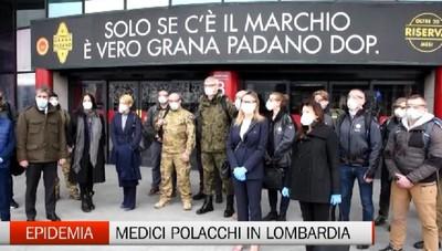 Aiuti internazionali alla Lombardia: arrivati anche medici polacchi