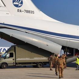 Nuovo volo umanitario dalla Russia Materiale sanitario per l'ospedale Ana