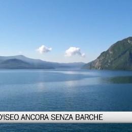 Il Lago d'Iseo ancora solitario senza barche