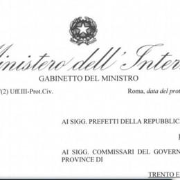 Le regole in vigore dal 4 maggio La circolare ministeriale ai prefetti