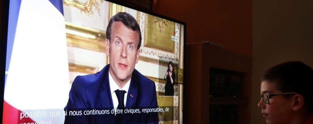 Il presidente Macron parla alla Francia E nel discorso cita anche Bergamo