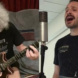 Il Vava duetta con Brian May dei Queen «Bergamaschi, champions, resistiamo»