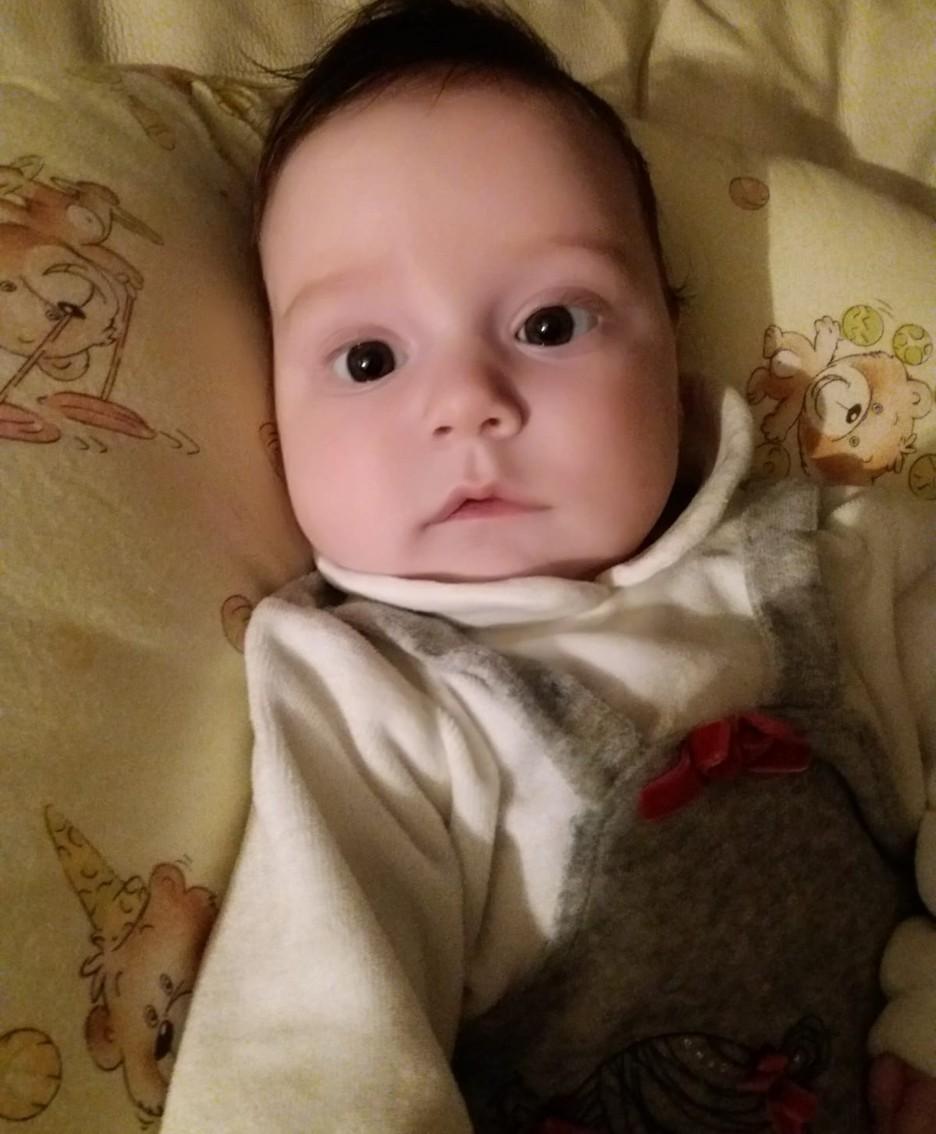 La piccola Eva Cominelli