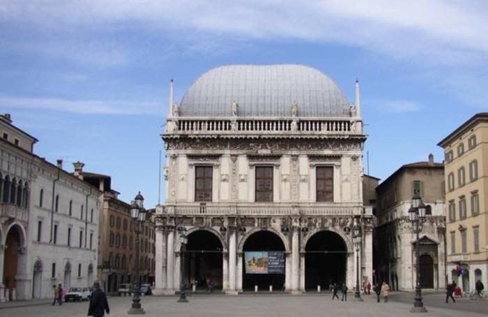 Palazzo del Comune in piazza della Loggia a Brescia