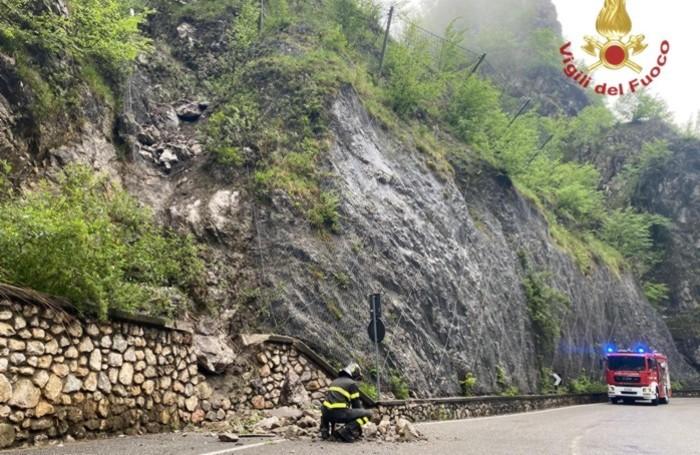 Frana nei pressi degli orridi della Val Taleggio