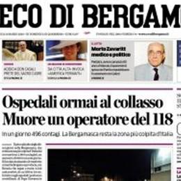 La versione digitale de L'Eco di Bergamo Un euro alla settimana nell'emergenza