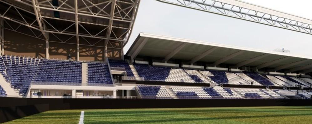 Stadio, a giugno il cantiere Ecco la nuova tribuna Giulio Cesare