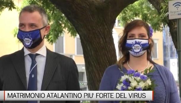 Un matrimonio tutto atalantino a Palazzo Frizzoni