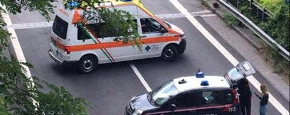 Costa Volpino, schianto in galleria Interviene l'elisoccorso, due feriti. Foto/Video