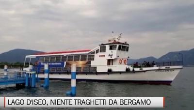 Lago d'Iseo, i traghetti bergamaschi ancora fermi al palo