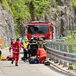 San Giovanni Bianco, scontro tra moto Gravi due uomini di 30 e 40 anni
