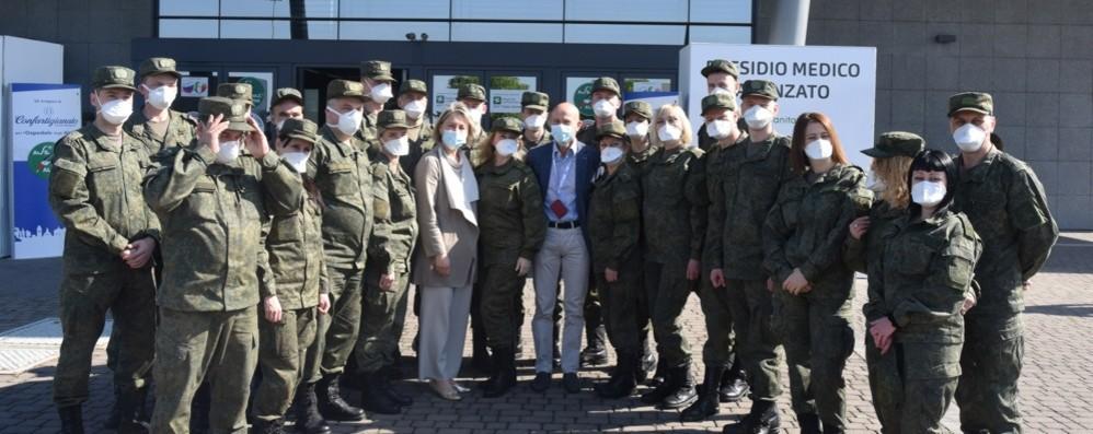 Bergamo saluta il contingente russo Fontana: reagenti  per raddoppiare  tamponi