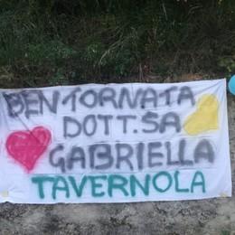 Gabriella guarita ritorna a casa  Festa a Tavernola per la dottoressa