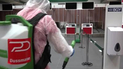Sanificazione dell'aeroporto di Orio
