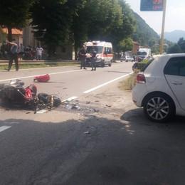 Cisano, scontro auto-moto Decolla l'elisoccorso, grave 59enne