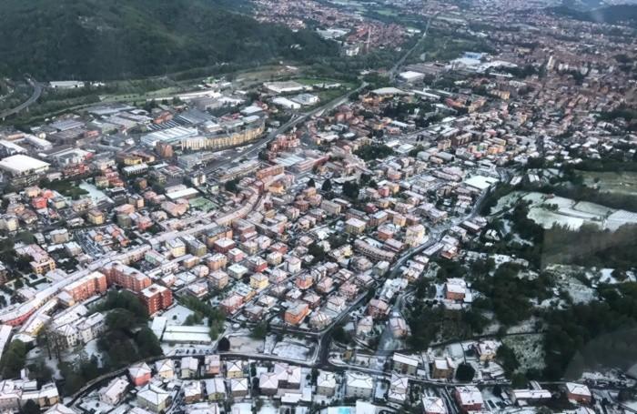 Alzano e Nembro come dopo una nevicata