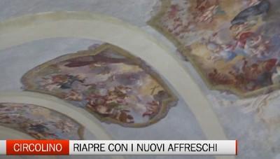 Riapre il circolino di Città Alta. Dopo il restauro ecco i nuovi affreschi scoperti