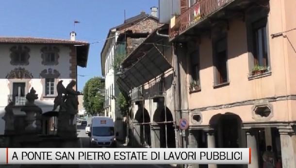 A Ponte San Pietro un'estate di lavori pubblici
