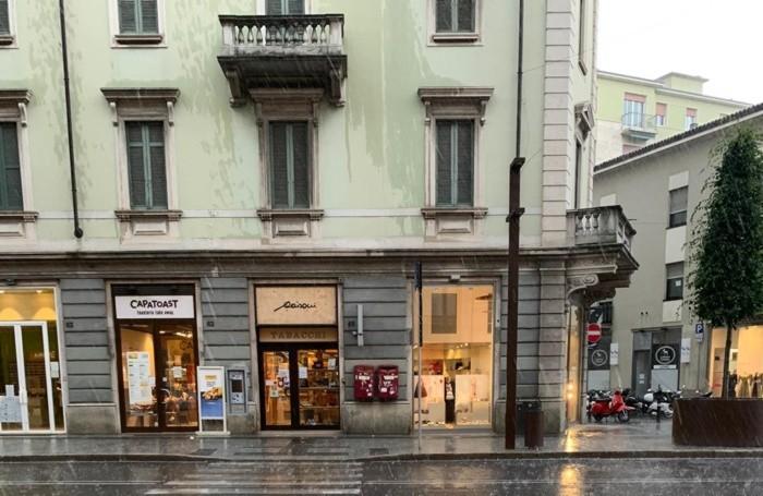 Pioggia a Bergamo