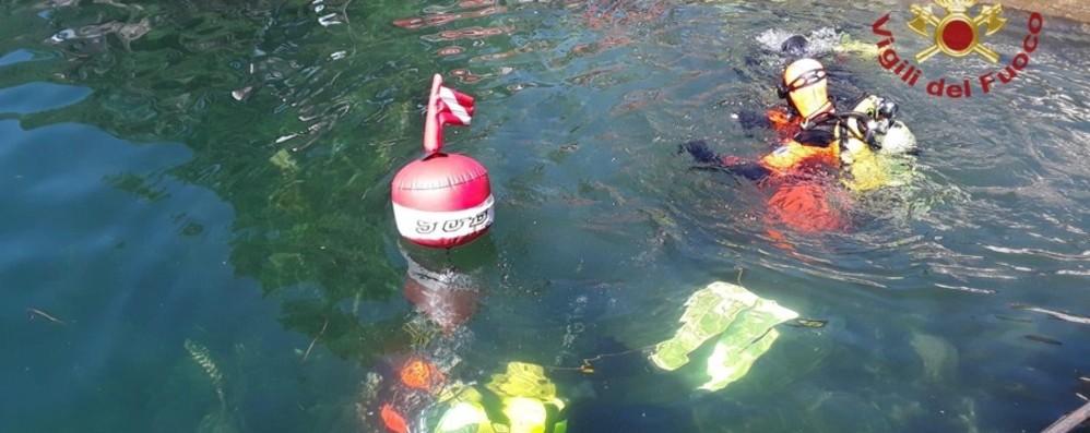 Ancora ricerche di Renato Paris Lago d'Iseo, si tenta a 50 metri di profondità