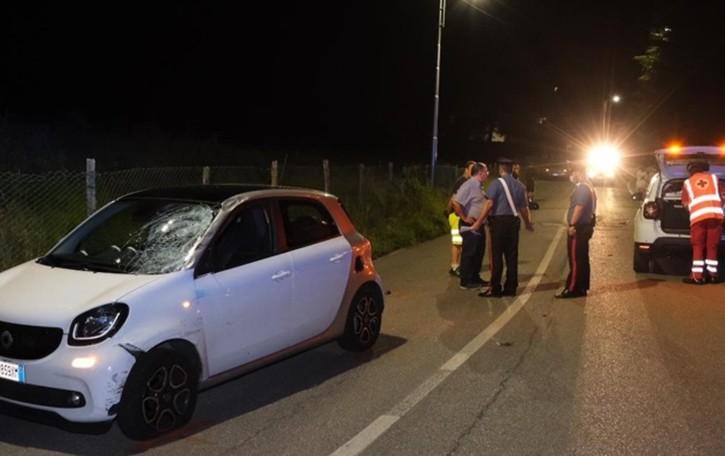 Pradalunga, frontale tra auto e moto Morto sul colpo un uomo di 33 anni