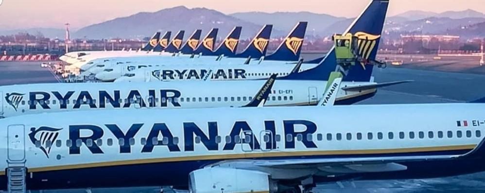 Ryanair, attive 26 rotte entro fine giugno Estate: tornano i voli da e per Orio al Serio