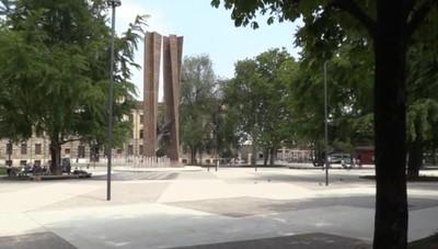 Bergamo, attivata la fontana In azione i nuovi 18 zampilli