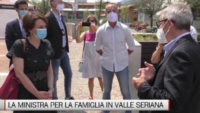 Nembro e Alzano, la visita del ministro Bonetti in Val Seriana