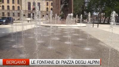 Pronta la fontana di piazza degli Alpini. Partita la simulazione