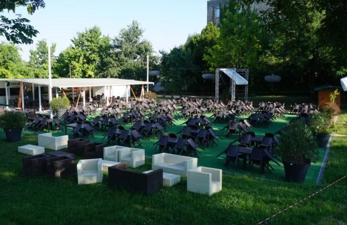 L'allestimento nel parco di Sant'Agostino