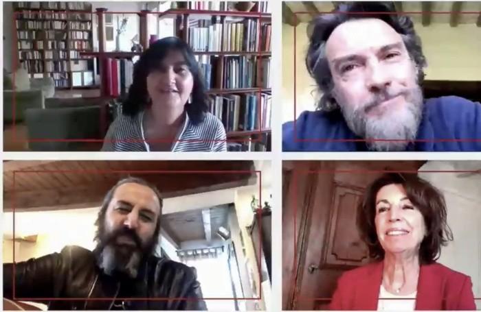 Dall'alto in senso orario; Maria Grazia Panigada, Alessio Boni, Nadia Ghisalberti e Omar Pedrini