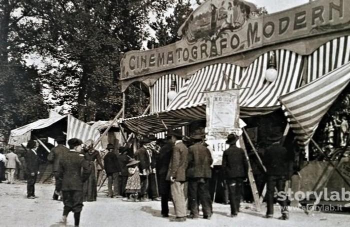 Cinematografo in piazza Baroni