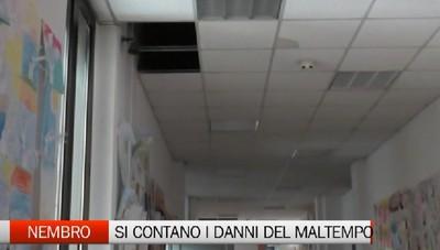 Nubifragio, a Nembro danni anche alla scuola