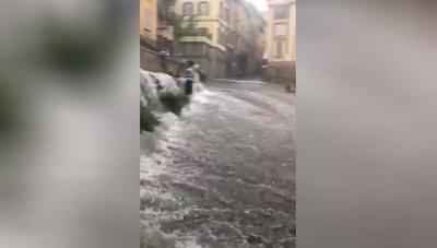Il maltempo domenica a Bergamo